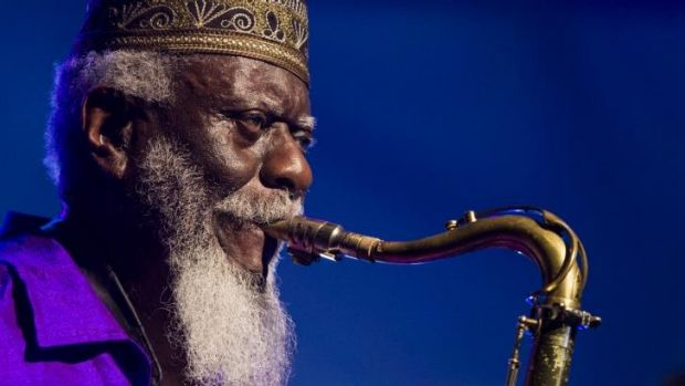 Perfect tenor: Pharoah Sanders, a late addition to the line-up, stole the show.