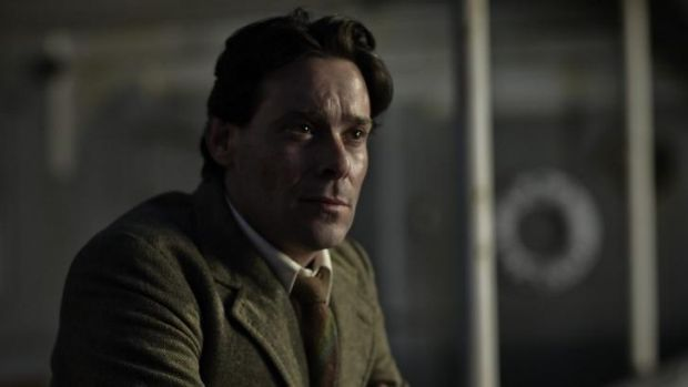 Ellis Ashmead-Bartlett, played by James Callis, observes the Suvla battle from the deck of a ship in the mini series ...