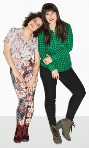 Zany: Abbi Jacobson and Ilana Glazer in <i>Broad City</i>.