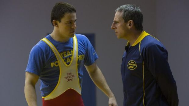 Flawed: Channing Tatum (left) and Steve Carell in <i>Foxcatcher</i>.