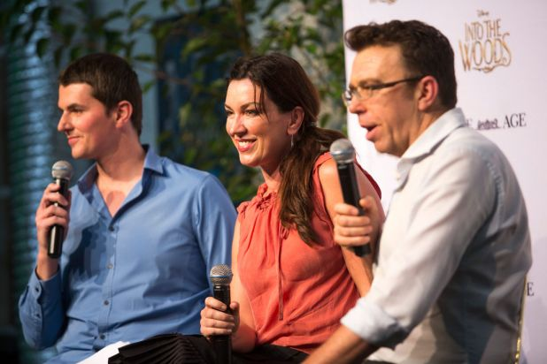 From left: Michael Lallo (entertainment reporter, <i>The Age</i>), Antoinette Halloran and Karl Quinn.