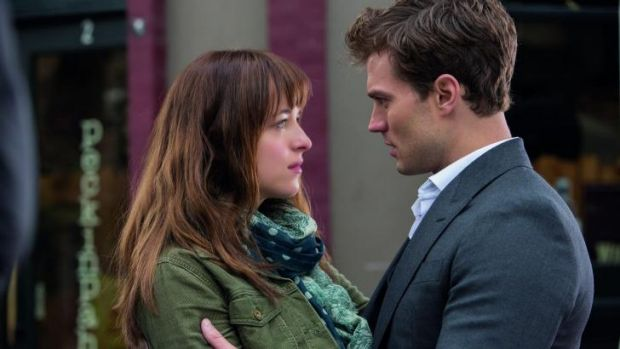 Opposites attract: Dakota Johnson and Jamie Dornan as Christian Grey, the young billionaire with a taste for whips.