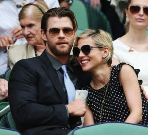 Happily married: Chris Hemsworth with Spanish wife Elsa Pataky, with whom he has three children.