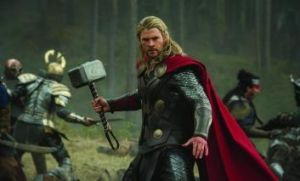 Norse play: Chris Hemsworth muscles up as Thor in the role he is best known for.
