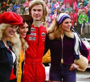 Playboy: James Hunt's English accent proved no obstacle in <i>Rush</i>.