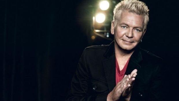 Iva Davies - from curly, mulleted glory to a full silver fox look....