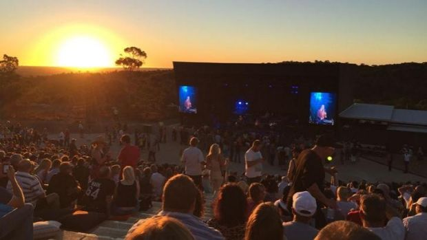 Mental As Anything play as the sun sets at Red Hill Auditorium.