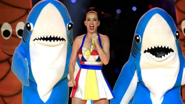 Katy Perry performs during the Pepsi Super Bowl XLIX Halftime Show in Arizona.