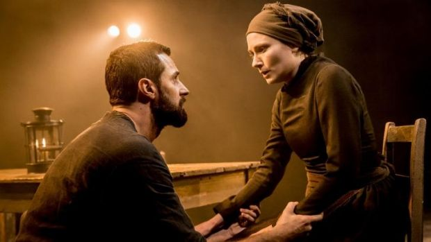 Richard Armitage (John Proctor) and Anna Madeley (Elizabeth Proctor) in the Old Vic production of Arthur Miller's play ...