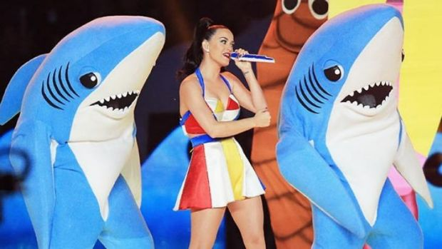 Katy Perry's dancing sharks get plenty of attention after their Super Bowl performance.