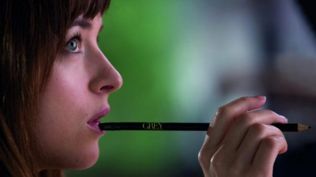 Dakota Johnson stars in the much anticipated film adaption of <i>Fifty Shades of Grey</i>.