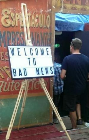 Chaos Ensemble's take on current affair, Bad News, disappointed news nerds..