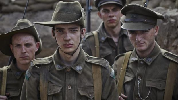 A scene from the television series <i>Gallipoli</i>, screening on Nine but having online release on Stan.