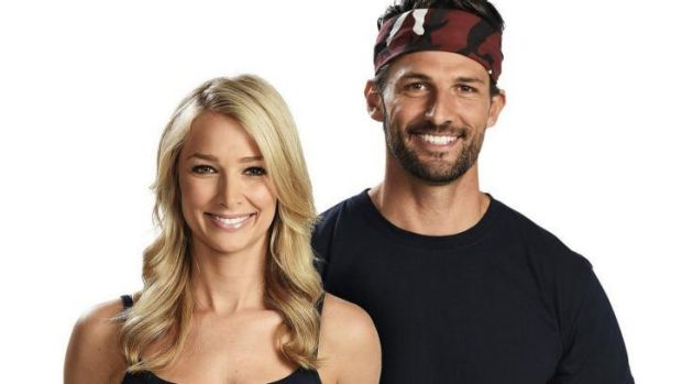 """Tim Robards and Anna Heinrich from """"The Bachelor"""" crash the """"I'm A Celebrity"""" jungle party."""