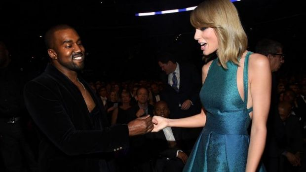 Kanye West and Taylor Swift pay respect to each other at the Grammy Awards.