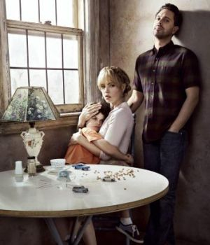 US cast: (from left) Dylan Schombing as Hugo, Melissa George as Rosie and Thomas Sadoski as Gary.