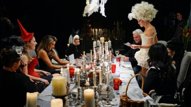 Real Housewives of Melbourne throw a murder mystery dinner party.