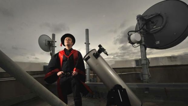 Eye in the sky: Martin Plowman will become the first Australian to get a PhD in ufology, the study of unidentified ...