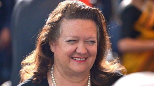 Court action: Gina Rinehart.