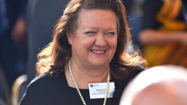 The real life Gina Rinehart took legal action with Channel Nine over the mini-series.