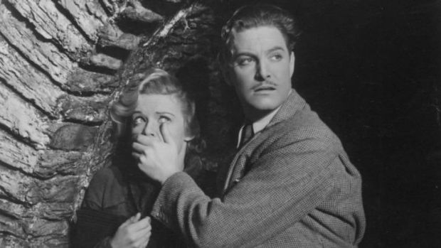 Early dash: Madeleine Carroll and Robert Donat in Alfred Hitchcock's <i>The 39 Steps</i>.