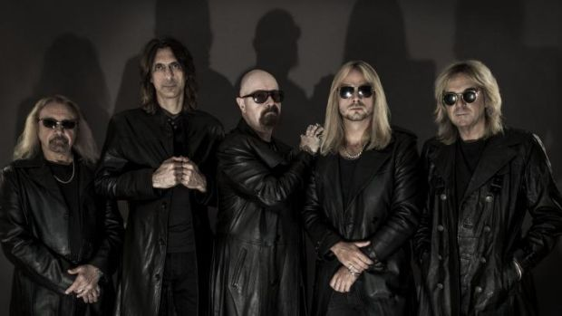Judas Priest with Rob Halford, centre: 'We've never been to drawn to the tabloidy, gossipy side of things.'