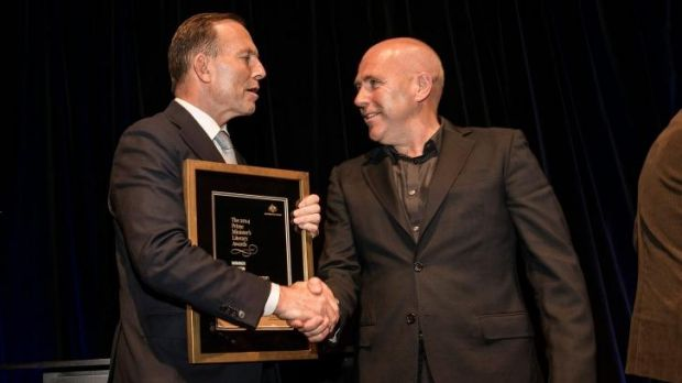 Richard Flanagan won the top prize at the WA Premier's Book Awards and later went on to accept one of the Prime ...