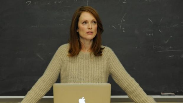 Julianne Moore's transformation in <i>Still Alice</i> is emotional and psychological rather than physical.