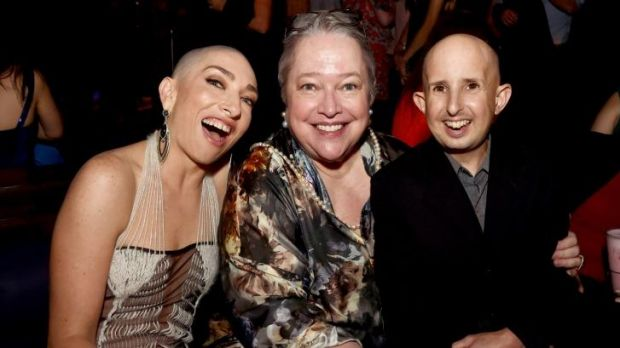 Hit show: (from left) actors Naomi Grossman, Kathy Bates and Ben Woolf, from <i>American Horror Story.</i>