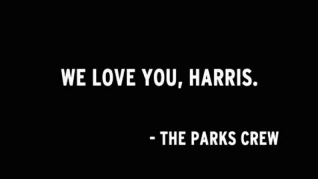 The final scene of <i>Parks and Recreation</i>.