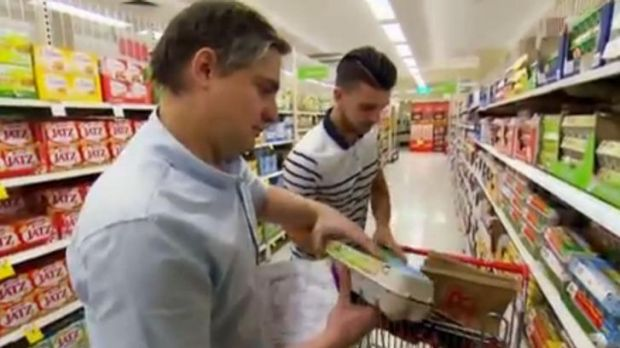 No egg on face ... Will and Steve head out for the all-important shopping trip before preparing their English dishes.