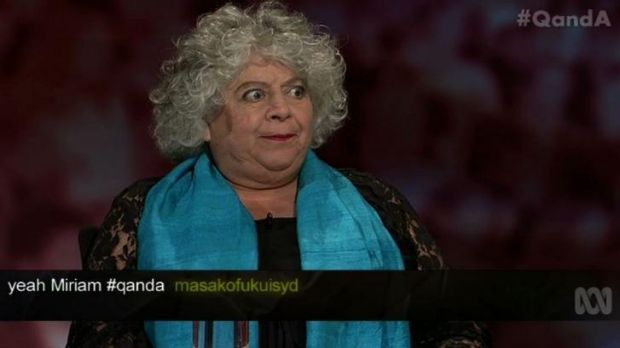 'I think he's a tit': Miriam Margolyes gave the shortest, but by far the most memorable, answer on Tony Abbott.