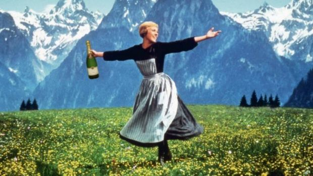 Time to pop the cork? Julie Andrews made film history with <i>The Sound of Music</i>, which has just turned 50.