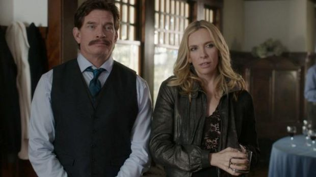 Thomas Haden Church and Toni Collette in <i>Lucky Them</i>.