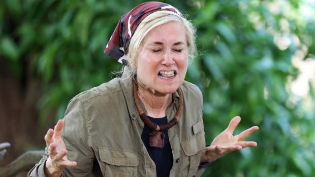 Maureen McCormick on the TV shot 'I'm A Celebrity ... Get Me Out Of Here!'.