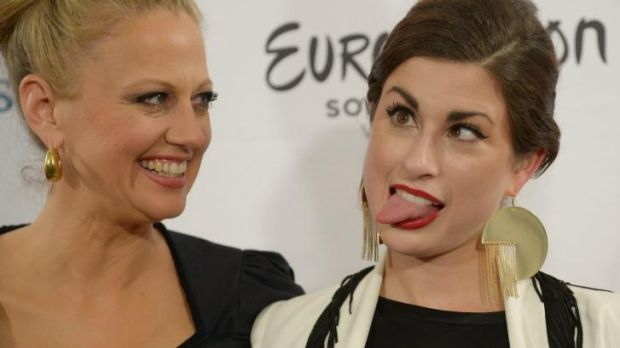 Eurovision's runner-up for Germany Ann Sophie (right) gets the gig. She's next to  TV host Barbara Schoeneberger.