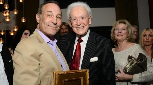 Sam Simon (left), pictured with US game show host and fellow Sea Shepherd supporter Bob Barker, has died after being ...