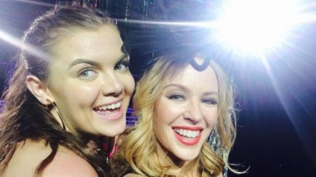 16-year-old Amy Hardy was brought up onto the stage with Kylie Minogue.