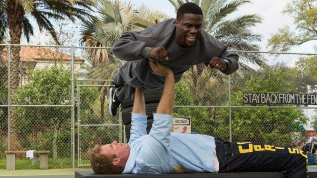Satire or just deeply offensive?: Kevin Hart and Will Ferrell in <i>Get Hard.</i>