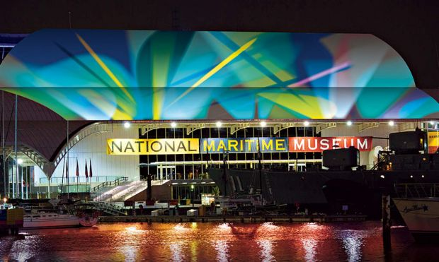 The Australian National Maritime Museum will be set aglow.