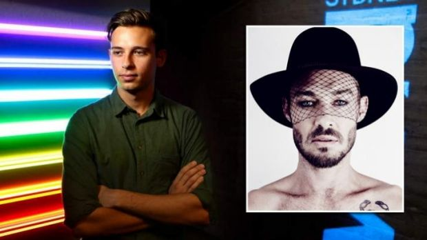 Flume, left, at the Opera House where he and Daniel Johns, right, were named as two of Vivid's acts.