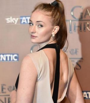 Sansa actress Sophie Turner turns heads at the world premiere of <i>Game of Thrones</i>.
