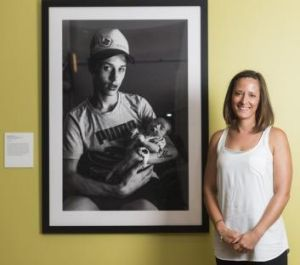 National Photographic Portrait Prize runner-up Katherine Williams with her portrait <i>Barry & Alkirra</i>.