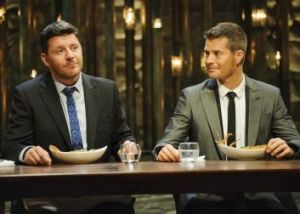<i>My Kitchen Rules</i>, with judges Manu Feildel and Pete Evans, draws twice the audience of <i>MasterChef</i>.