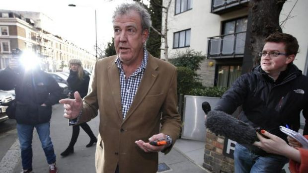 Sack <i>Top Gear</i> presenter Jeremy Clarkson leaving his home in London on March 24, 2015.