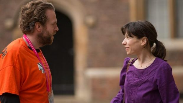 Best mates: Rafe Spall and Sally Hawkins in <i>X+Y</i>.