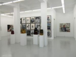 Artworks on show at a gallery inside Gillman Barracks in Singapore.