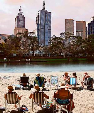 A digitally altered view of what the Yarra might look like.