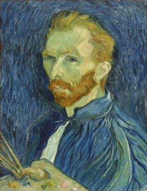 Vincent van Gogh, Self-portrait, 1889, oil on canvas, 57.8 x 44.5cm, National Gallery of Art, Washington, DC. Copyright ...