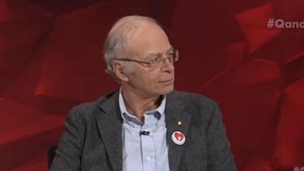 Philosopher Peter Singer said donations would be better made to organisations preventing blindness in third-world ...